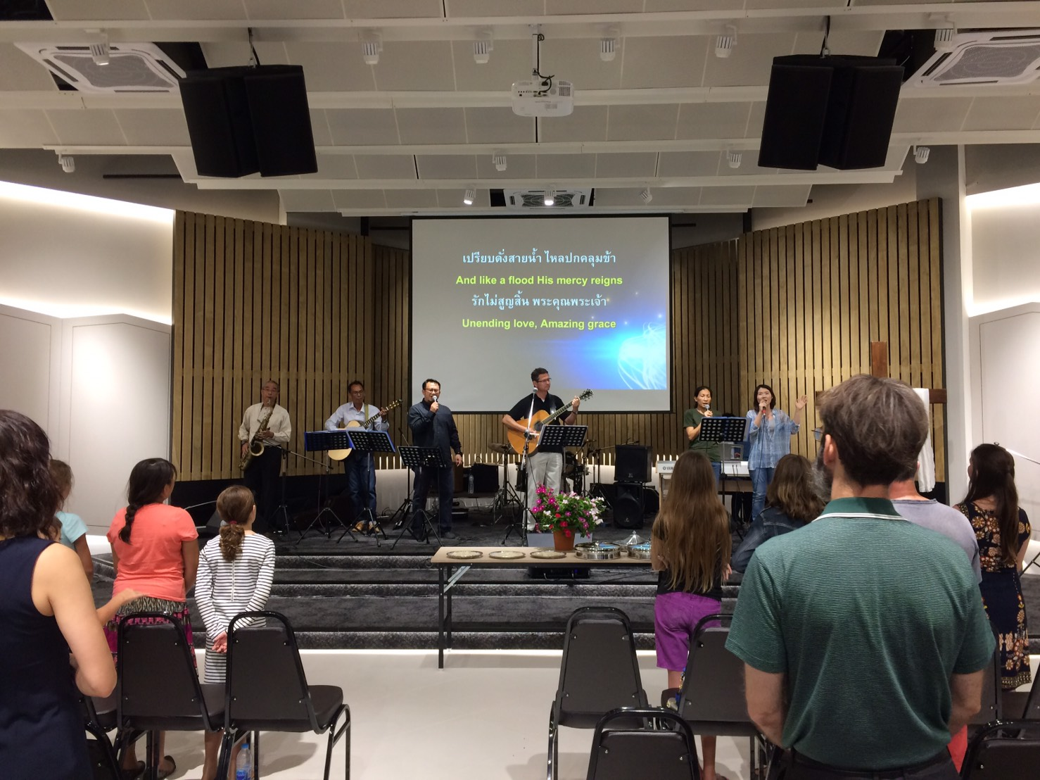 Worship in New Facility